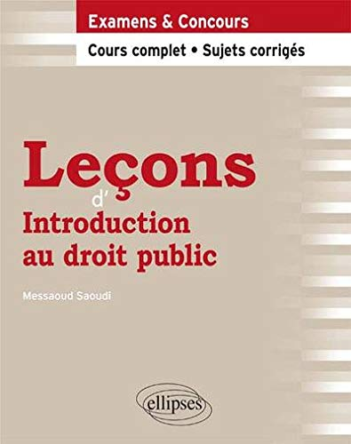 Leçons d'Introduction au Droit Public