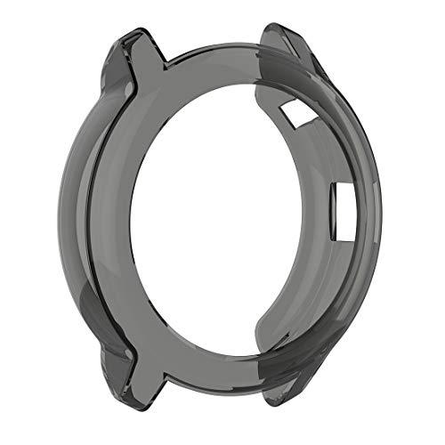 LOKEKE Compatibel Voor Garmin Vivoactive 3 Muziek TPU Beschermhoes Zachte TPU Beschermende Shell Hoes Voor Garmin Vivoactive 3 Muziek Smartwatch (TPU Zwart)