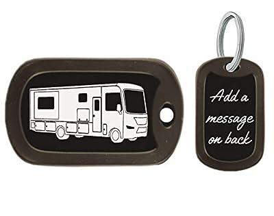 Gutentagit Class A RV Motorhome Key Chain Dog Tags - RV Accessories - Custom Engraved Motorhome Keychain by