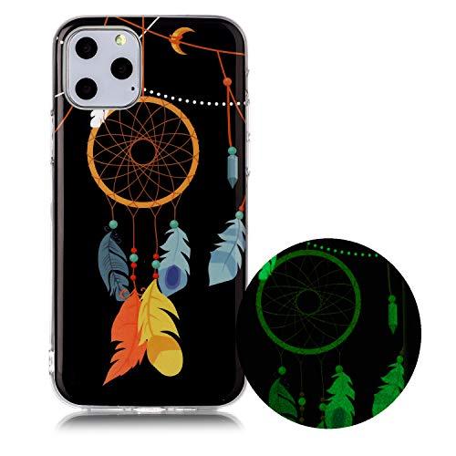 Miagon Leuchtend Luminous Hülle für iPhone 12 Pro Max,Fluoreszierend Licht im Dunkeln Handyhülle Silikon Case Handytasche Stoßfest Schutzhülle,Feder Glockenspiel