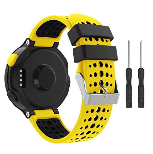 Syxinn Compatibile con Forerunner 235 Cinturino, Braccialetto di Ricambio Morbido Silicone Sportivo Cinturino da Polso Fascia per Forerunner 235/220/230/620/630/735XT