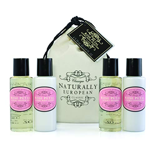 Naturally European Rose Petal Luxury Travel Size Body Care Gift Collection - 4 x 50ml Gift Set
