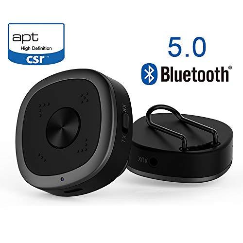 QINAG Bluetooth V5.0 Sender-Empfänger-Audio-Adapter USB-Bluetooth-Sender for PC Auto/TV/Stereoanlage geeignet aptX HD und aptX unterstützt