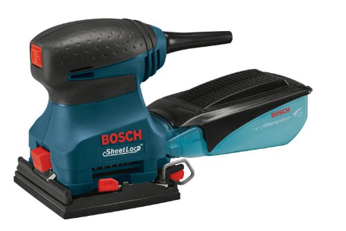 Bosch 1297D 1/4-Sheet Orbital Finishing Sander with SheetLoc Paper Attachment System