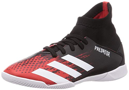 Adidas Predator 20.3 IN J, Zapatillas Deportivas Fútbol Unisex Infantil, Multicolor (Core Black/FTWR White/Active Red), 38 EU