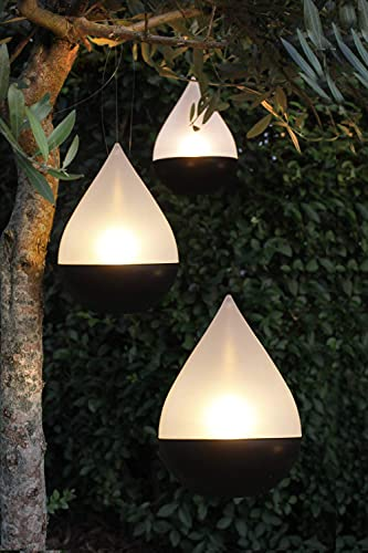 Arnusa Solarleuchte Solarlampe Tropfen 3er Set LED Gartenlampe zum hängen oder Stellen Solar Tischleuchte Hängeleuchte warm-weiß