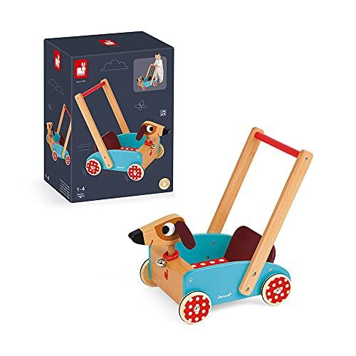 Janod J05995 – Lauflernwagen aus Holz, Crazy Doggy - 6