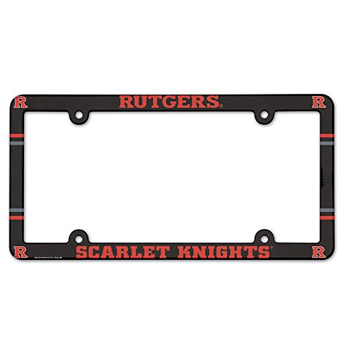 NCAA License Plate with Full Color Frame, Rutgers