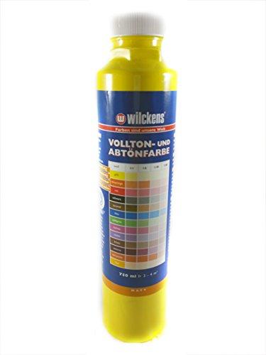 Qualitäts Abtoenfarbe - Volltonfarbe / 750 ml/matt - 14 Farben zur Auswahl (Gelb)