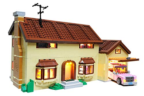 Brick Loot Deluxe LED Lighting Kit for Lego Simpsons House - 71006 (Lego Set NOT Included)
