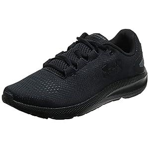 Under Armour Men's Charged Pursuit 2 Running Shoe, Black (003)/Black, 10.5 M US