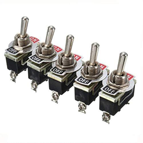 KoelrMsd Interruptor de Palanca de 5 uds, Interruptor basculante E-Ten1021, Interruptor de modificación de Coche, Interruptor Impermeable para modificación de vehículos y Barcos