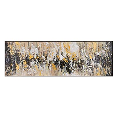 Esta realizado con soporte de lienzo y lleva el marco de madera contrachapada DM. Sus medidas son: 150x4x50 cm. Encaja en ambientes de estilo: contemporáneo, moderno. Un producto recomendado para uso en dormitorio, salón, habitación. Cuadro cabecero ...