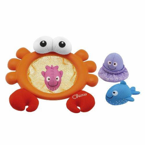 Chicco Crab Basket Bath 05188 Bagnetto Gioco Acquatico Prima Infanzia Giocattolo 545, Multicolore, 8003670824312