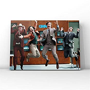 NATVVA Large Painting Wall Art Anchorman Movie Poster Wall Decor Ron Burgundy Canvas Art Prints Painting Picture Artwork Home Decoration Artwork Gift