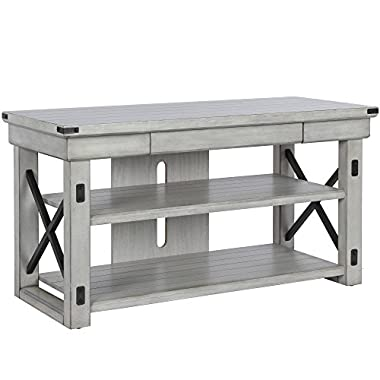 Ameriwood Home 1735296COM Wildwood TV Stand, Rustic White
