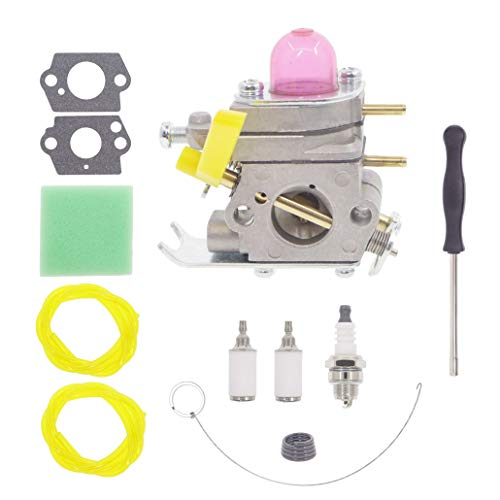 C1U-H46 Carburetor for Homelite Ryobi RY70103 RY70103A RY70105 RY70105A RY70107 RY70107A String Trimmers with AC04122 Fuel Line Air Filter Kit