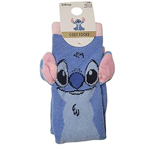 Primark Limited - Calcetin de Lilo y Stitch Rosa, Azul y Negro - Con Licencia Oficial - para Mujer UK 4-8 EUR 37-42