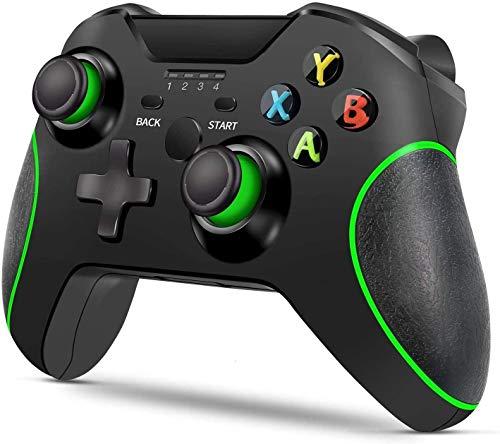 GRJKZYAM Manette de Jeu améliorée pour Manette sans Fil pour Xbox One/One S/One X / PS3 / One Elite/Windows 10 | Manette de Jeu sans Fil 2.4G avec Double Vibration