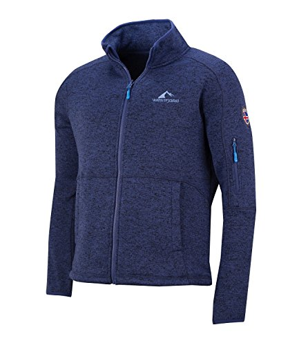 Westfjord Hombre Chaqueta de Polar Katla, Color Azul francés Talla XL