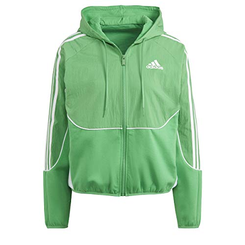 adidas W SP Women's Hoodie Sweatshirt, Womens, Sweatshirt, GL9469, verint/White, L