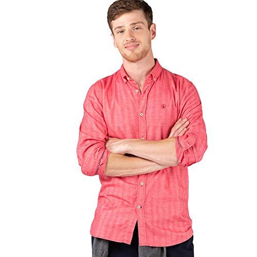 El Ganso Urban Scotland 1 Camisa casual, Rojo (Rojo 0042), Large para Hombre