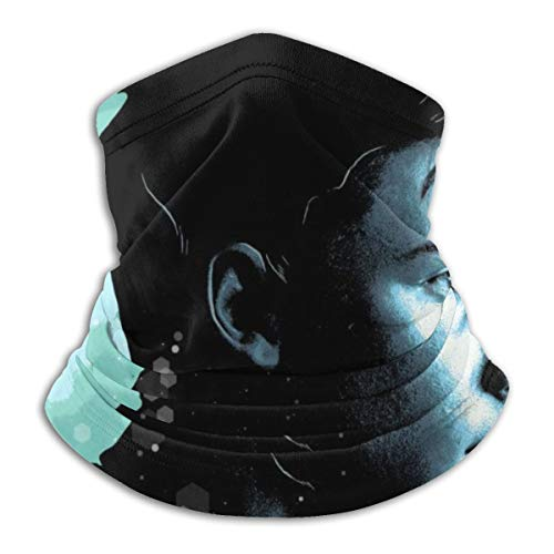 empty Sh_wn Me_Nds Face Sh_ield Mouth Sh_ield Bandana 3D Printed Neck Gaiter for Women Men Outdoor Dust Sun Wind Protection Black