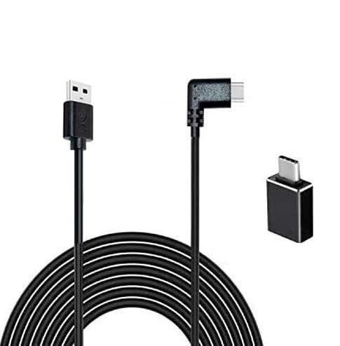 kompatibel mit Oculus Quest VR Link Kabel 16Fuß / 5m USB C Link Kabel, Hochgeschwindigkeitsdatentransfer & schnelles Aufladen, USB 3.0 Gen 1 Kabel, kompatibel mit Quest 1/2 und alle Typ C-Geräte