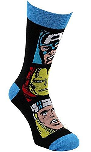 i-Smalls Socken der Männer Marvel Avengers Iron Man Hulk Thor Spiderman Captain America Socken EUR 39-45 Design with Three Heads