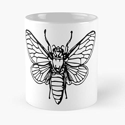 Design White and Black Bee The Bees Planet Vintage Save Lover Garden Best Mug Holds Hand 11oz Made from White Marble Ceramic