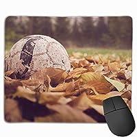 マウスパッド オフィス最適 落ち葉をかけた サッカー ゲーミング 防水性 耐久性 滑り止め 多機能 標準サイズ25cm×30cm