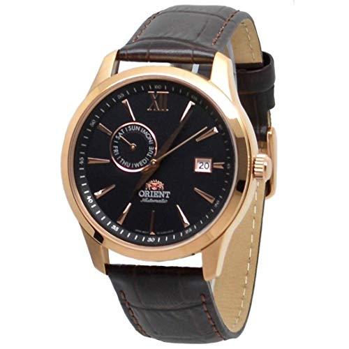 Orient Unisex Erwachsene Analog Automatik Uhr mit Leder Armband FAL00004B0