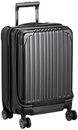 [ワイズリー] スーツケース 超軽量双輪スーツケース フロントオープン 機内持込最大サイズ コーナーパッド付き TSAロック 機内持ち込み可 37L 47 cm 3.6kg 338-2301 ブラックカーボン
