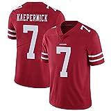Kaepernick 49ers # 7 Maillot de rugby pour homme Maillot de football à manches courtes T-shirt décontracté pour fans de sport Unisexe Taille XXXL Rouge