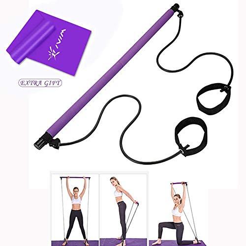 Risefit - Kit de Barra de Pilates con Banda de Resistencia portátil para Yoga, Pilates y Yoga, Barra de Ejercicio para Culturismo y Entrenamiento en casa