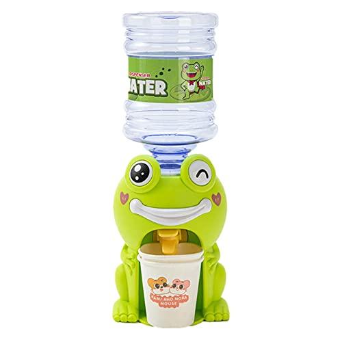 bottl Mini dispensador de agua para niños, diseño de rana con forma de cerdito de simulación de juegos de casa, dispensador de bebidas en miniatura, modelo de escena, accesorios para casa de muñecas