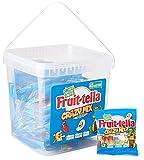 Fruittella Crazy Mix Jar Caramelle Gommose Gusti Assortiti con Succo di Frutta e Aromi Naturali, Senza Glutine, Idea Regalo per Feste e Compleanni Bambini, Secchiello da 45 Mini Bustine