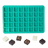 Webake Candy Molds Silicone Chocolate Molds 40-Cavity Square Baking Molds for Homemade Caramel, Hard...