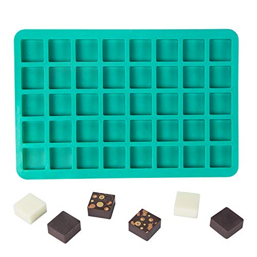 Webake Candy Molds Silicone Chocolate Molds 40-Cavity Square Baking Molds for Homemade Caramel, Hard Candy, Truffle Chocolate, Keto Fat Bombs, Gummy, Jello, Peanut Butter Fudge