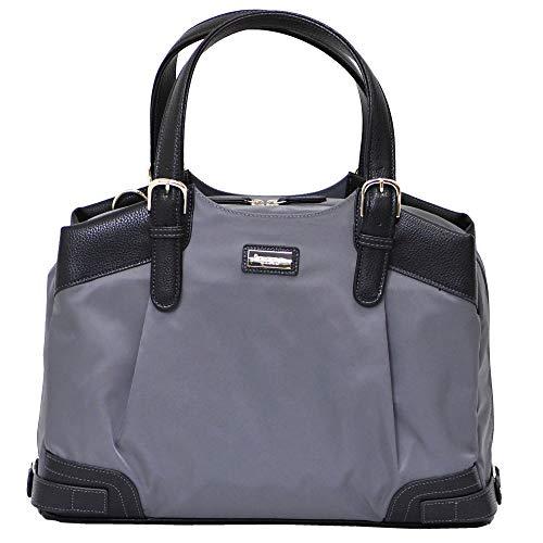 memezawa kaban(目々澤鞄) ビジネスバッグ レディース a4 軽量 ナイロン 営業 1412530 グレー×ブラック(13)