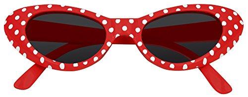 Cat Eye Brille Sandy mit Punkten - Rot