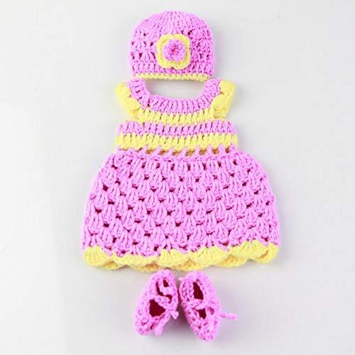 LLX Ropa De Bebé Recién Nacido De Moda Reborn Baby Girl Doll Clothes For 10-11 Inches 25-27 Cm Doll Gifts,Purple