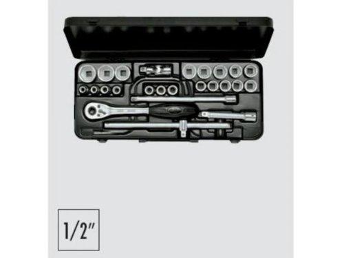 ELORA Steckschlüssel-Satz 1/2'' 10-32 mm 25 tlg. im Koffer - 771-OKLMU