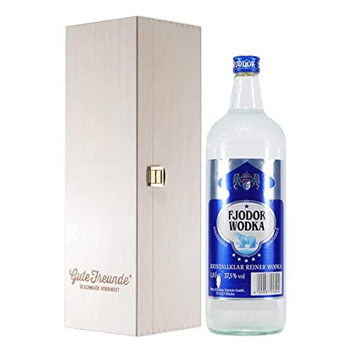 Fjodor Wodka mit Geschenk-Holzkiste