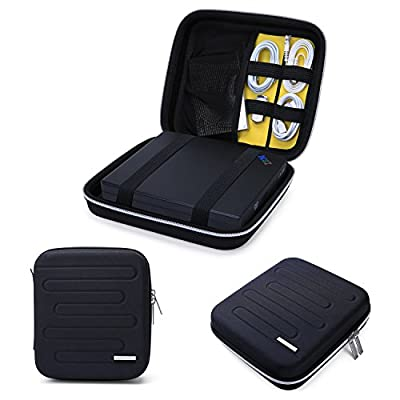 BAGSMART Portable Shockproof EVA Hard Drive Case Travel Electronic Organizer for Cables, Charger, USB
