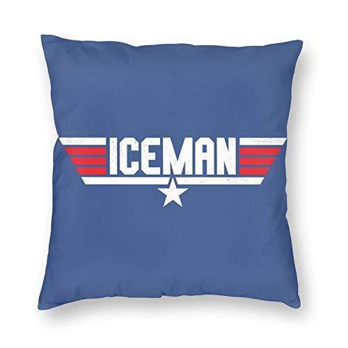 Sbvsdghfhgs Qienmryt Iceeman Top Gun - Fundas de almohada con cremallera invisible y absorbe la humedad (45,72 x 18 cm)