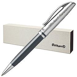 Pelikan Kugelschreiber JAZZ CLASSIC Anthrazit mit persönlicher Laser-Gravur Metall glänzend anthrazit lackiert