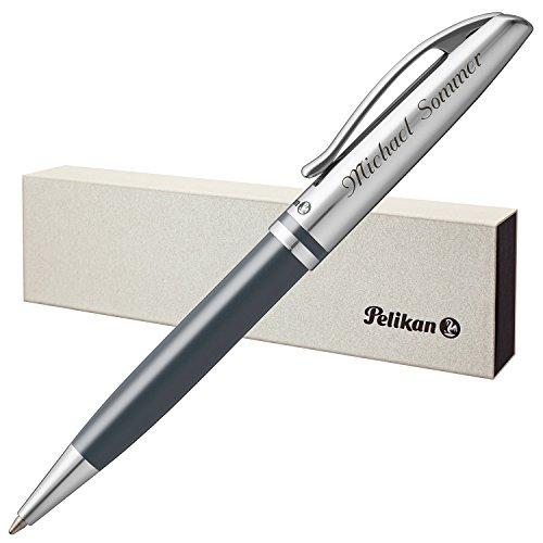 Pelikan Kugelschreiber JAZZ CLASSIC Anthrazit mit persönlicher Laser-Gravur Metall glänzend...
