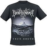 Borknagar True North Homme T-Shirt Manches Courtes Noir XL, 100% Coton, Regular/Coupe Standard