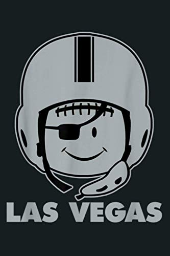 Las Vegas Helmet Football Smile Pirate Eye Patch: Notebook Planner - 6x9 inch Daily Planner Journal, To Do List Notebook, Daily Organizer, 114 Pages